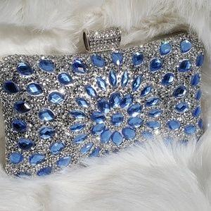 Blue Crystal Clutch